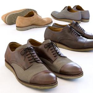 ワークシューズ - 革靴(外羽根式) 【3Dモデル】