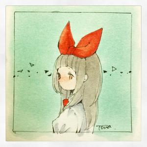 ミニ原画3種【リボンっ子】