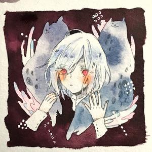 ミニ原画2種【あたまの中の怪物】