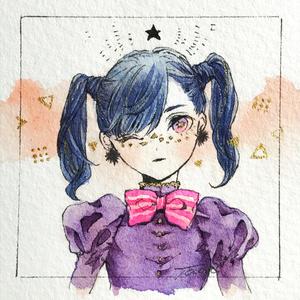 ミニ原画「青髪」