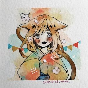 【ミニ原画】コルク額.2種