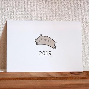 2019年 年賀状5枚セット