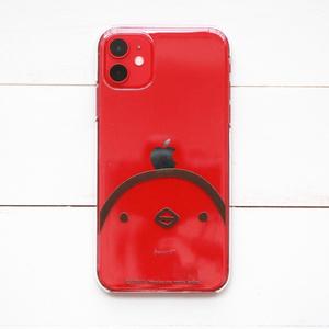 iPhone用ケース 頭にりんごを載せるひよこさん