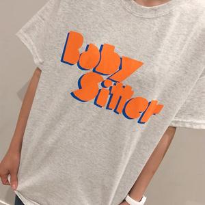 オレンジブルーTシャツ