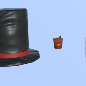 紳士セット(帽子、モノクル、パイプ)
