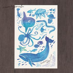 ポストカード(2枚セット) 「海のなかま」