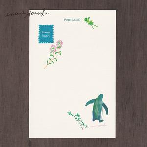 ポストカード(2枚セット) 「ペンギンとハーブ」