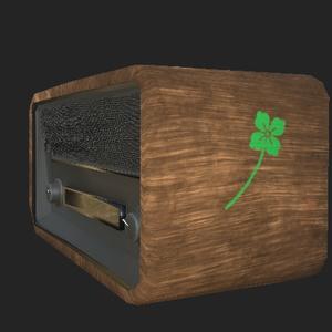 クラシックラジオ(3Dデータ)