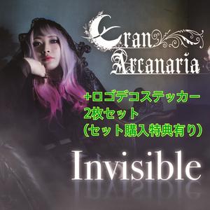 1st シングル 「Invisible」+ロゴデコステッカー2枚セット(ミニサイン色紙付き)