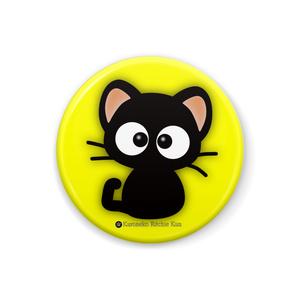 缶バッジ(黒猫りっちー君-Yellow-)