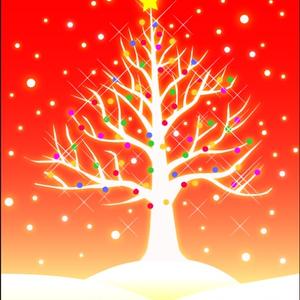 ポストカード001 雪樹