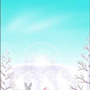 ポストカード005 大雪の朝