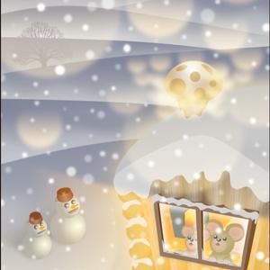ポストカード105 Snow Song(白い子守唄)