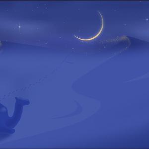 ポストカード111 風と月と砂のアンサンブル
