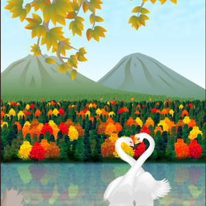 ポストカード122 パステル色の恋