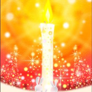 ポストカード124 Snow Candle Light