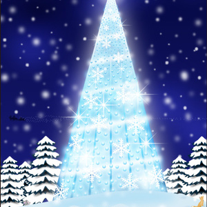 ポストカード139 Blue Light Christmas