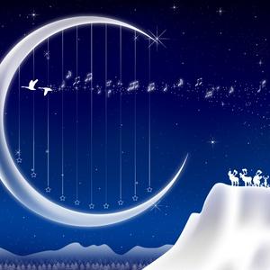 A4イラスト058 Moon Harp