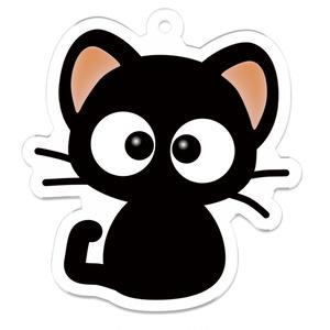 黒猫りっちー君、アクリルキーホルダー(小)