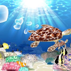A4イラスト152 Coral walk