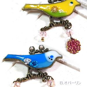 ハンドメイド/レジンアクセサリー/鳥・インコ