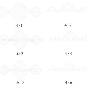 レースの素材 4-1~4-6/ Lace materials 4-1 to 4-6