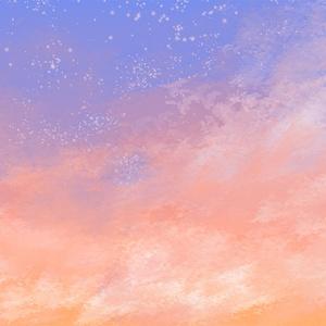 雲ブラシ+雲、草ブラシ/Cloud brush and cloud, grass brush