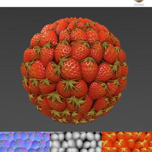 イチゴのマテリアルのチュートリアル