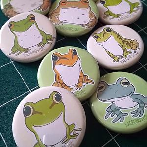 缶バッジ-日本の蛙-