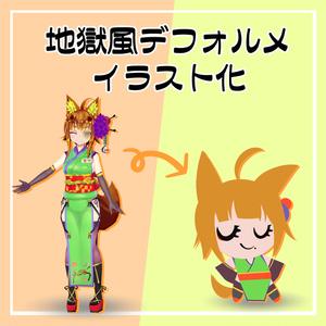 デフォルメ イラスト化 アニメモデル付