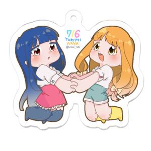 716印の仁奈&雪美キーホルダー