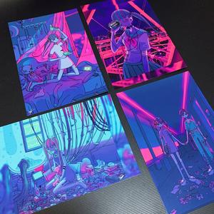 ネオンポストカード『首都高沿いのサーバールーム』