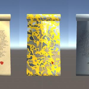 【VRChat想定】変質する羊皮紙とテクスチャ切替シェーダー