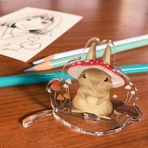 【オリジナル】【自家通販】キノコノボウシうさぎ アクリルスタンドフィギュア