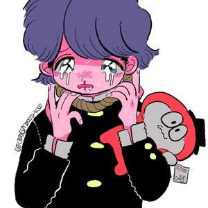 苦しそう系男子(自殺)シール