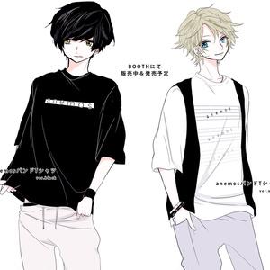 anemosバンドTシャツ(黒)