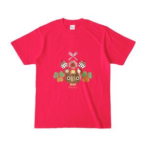 くまちゃんTシャツ。(ホットピンク)
