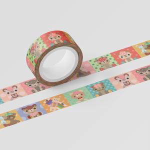 くまちゃんマスキングテープ。其の5【15㎜巾5m】