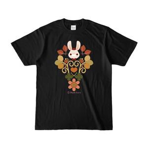 うさちゃんTシャツ (秋色/黒)