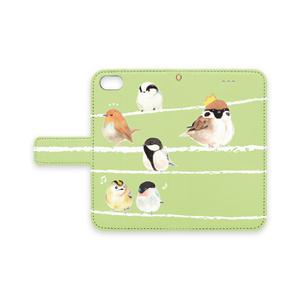 鳥ちゃんiPhoneケース:緑