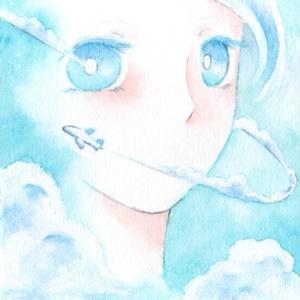 【ATC原画】月と雲と雨と涙。