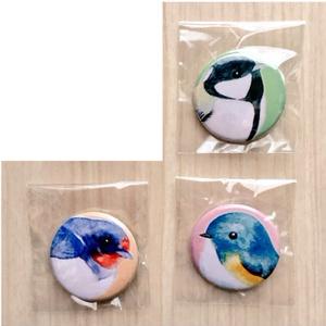 【缶バッジ】野鳥シリーズ