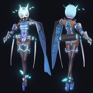 【3Dモデル】アイオライン【VRC】