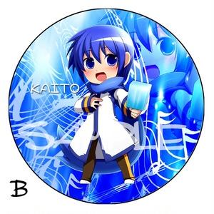 【ボカロ】デカ缶バッチ KAITO 76ミリ 全2種