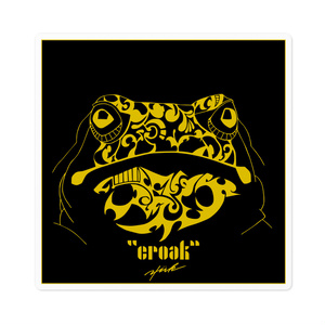 """croak"" square of sticker"