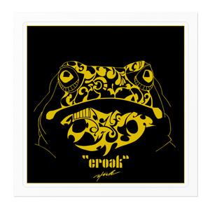 """""""croak"""" square of sticker"""