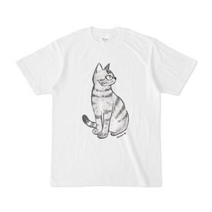 Tシャツ 猫のなぎまる・座る