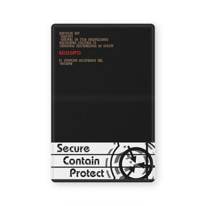 SCP財団イメージ レザー名刺ケース