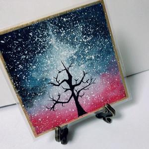 枯れ木と夜空