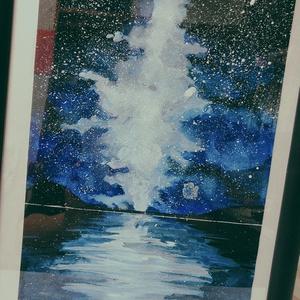 夜空と星の海